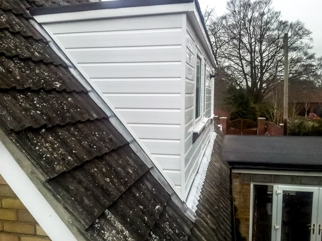 New uPVC cladding installed