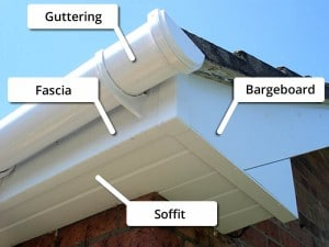 Roofline Products Illustrated in the Soffit Replacement page
