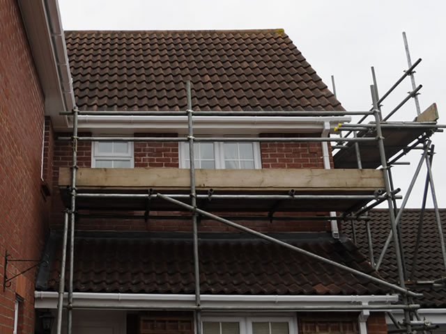 Case Study 2 | Closer look at the side gable scaffolding