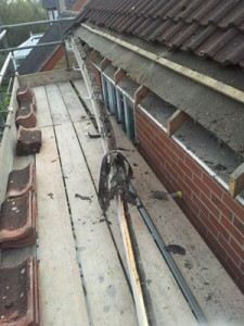 Roofline Ripping Out - removing fascias