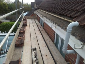 Roofline Ripping Out - Guttering removed