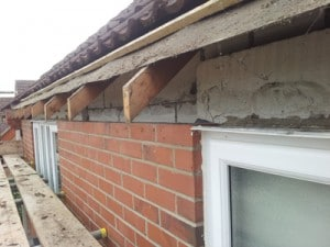 Roofline Ripping Out - fascias and soffits removed