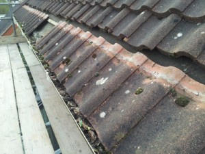 Roofline Ripping Out - first line of tiles