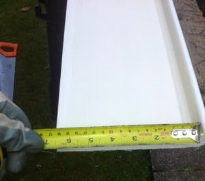 installing fascias - measure from fascia lip