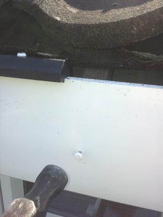 Installing fascias - Nailing fascia to rafter foot