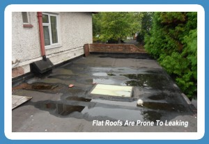 A Flat Roof Maintenance inspection reveals ponding