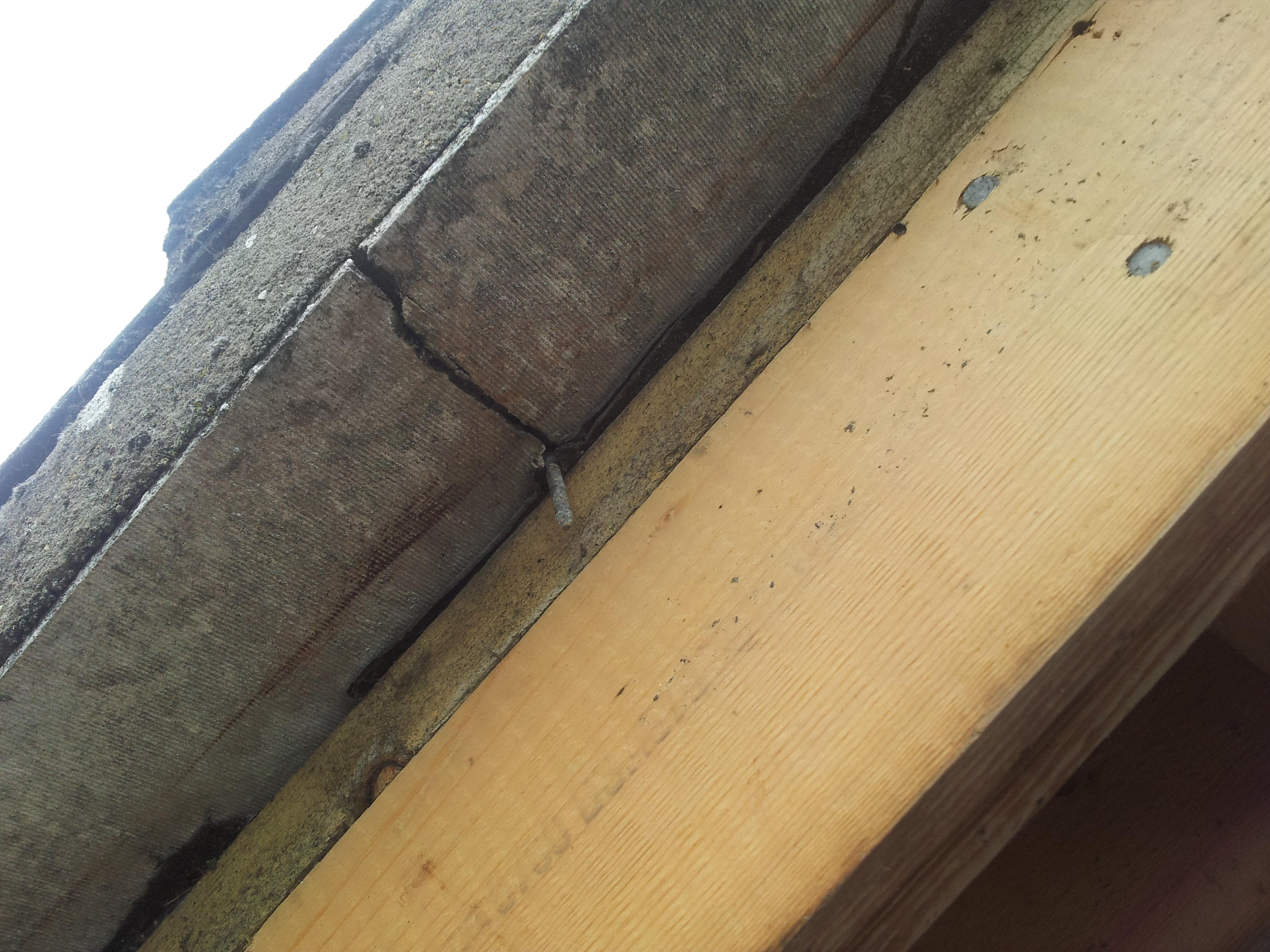 Rafter exposed ready for fixing