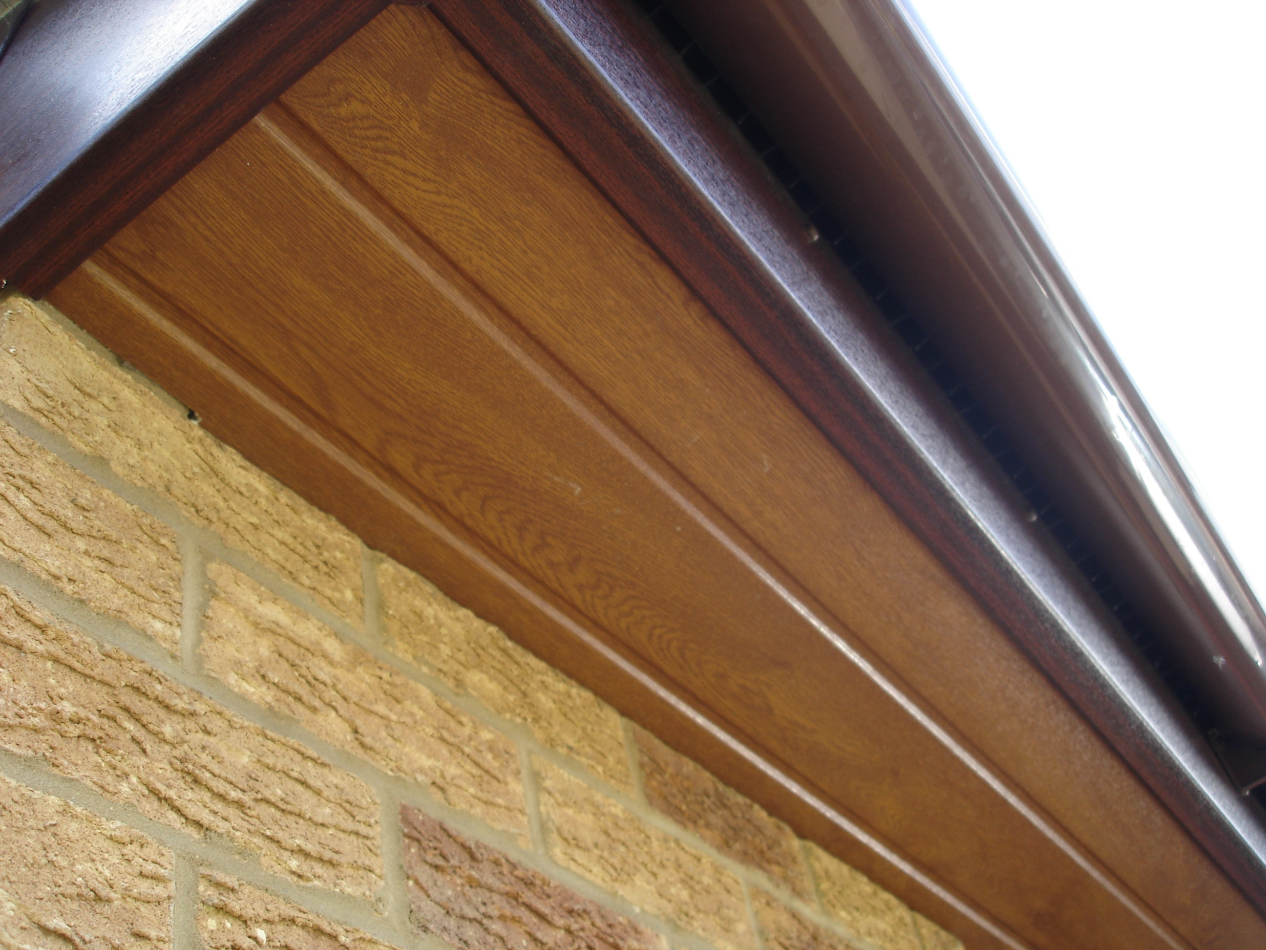 Replacement light oak soffits
