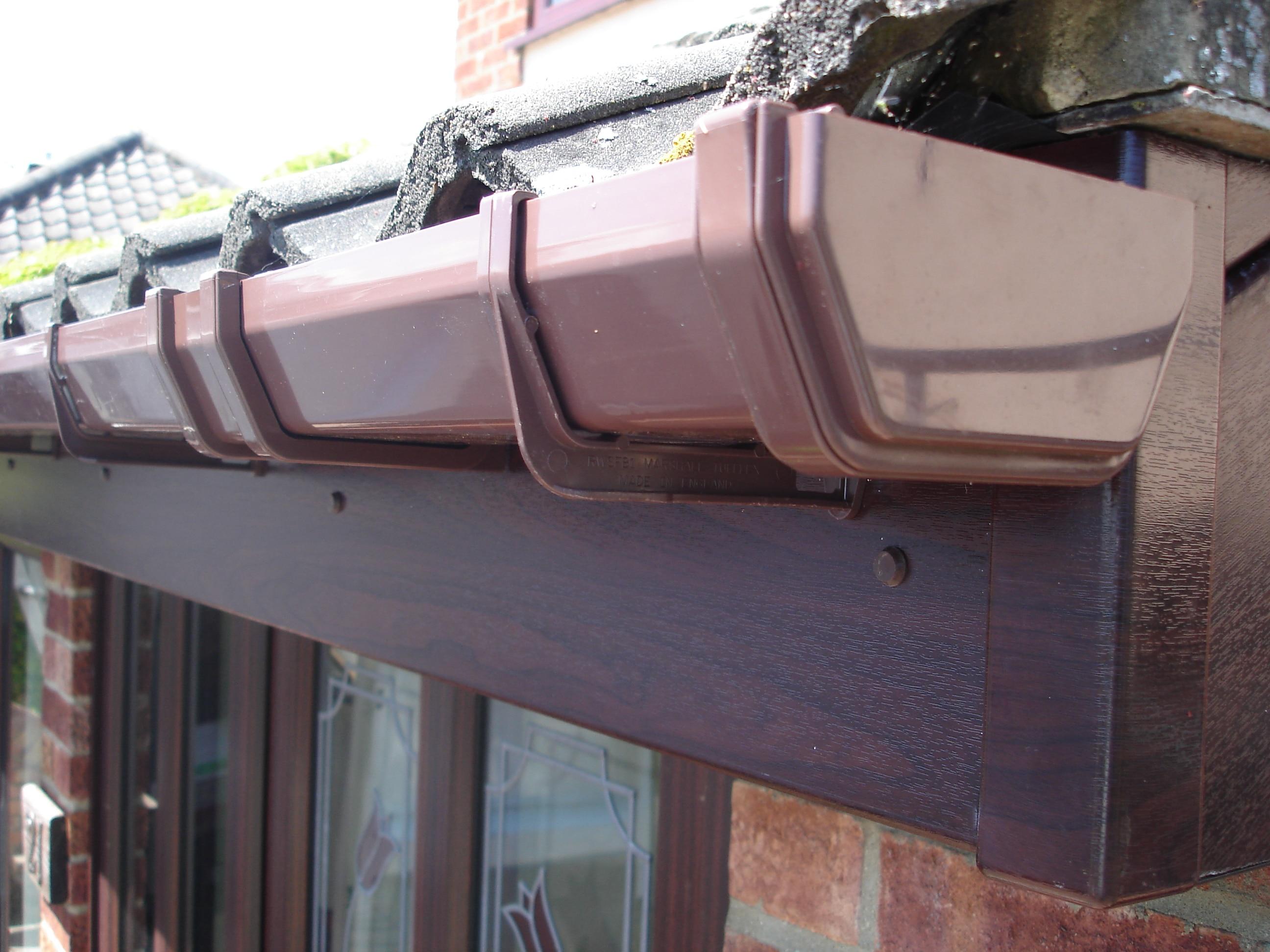 Upvc rosewood fascias