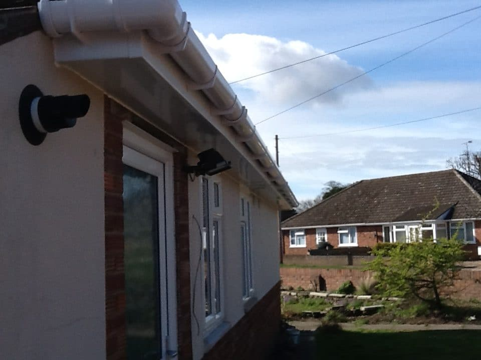 White fascias on bungalow