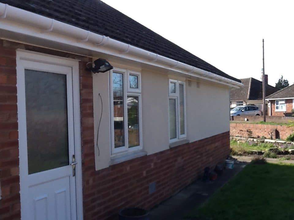 White Upvc fascias