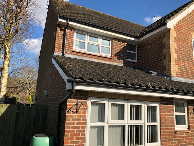 White fascias with black guttering