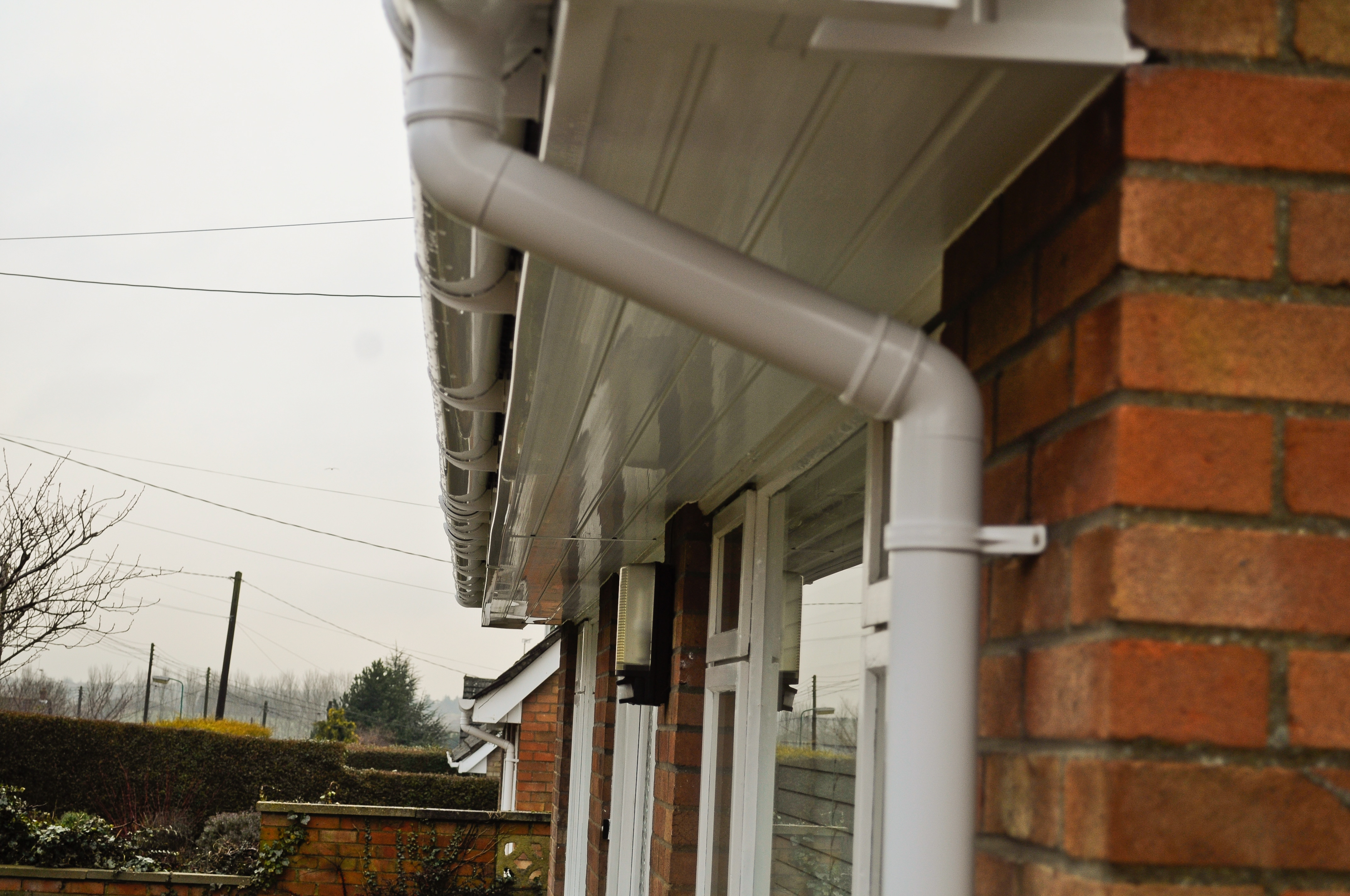 White T&G style soffits