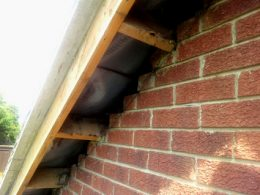 Roofline Ripping Out-Bargeboard Removed1st-tile